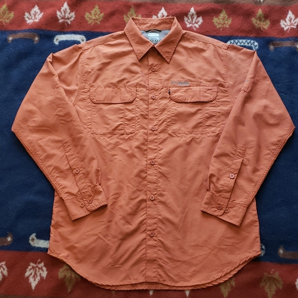 Columbia Titanium LS button-up Lightweight Shirt M